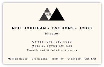 An image of Stephen Nicholls' business card